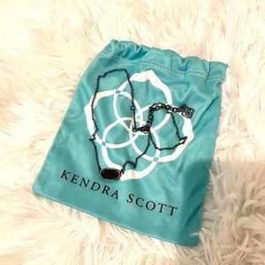 Kendra Scott Elisa Black Pendant Necklace